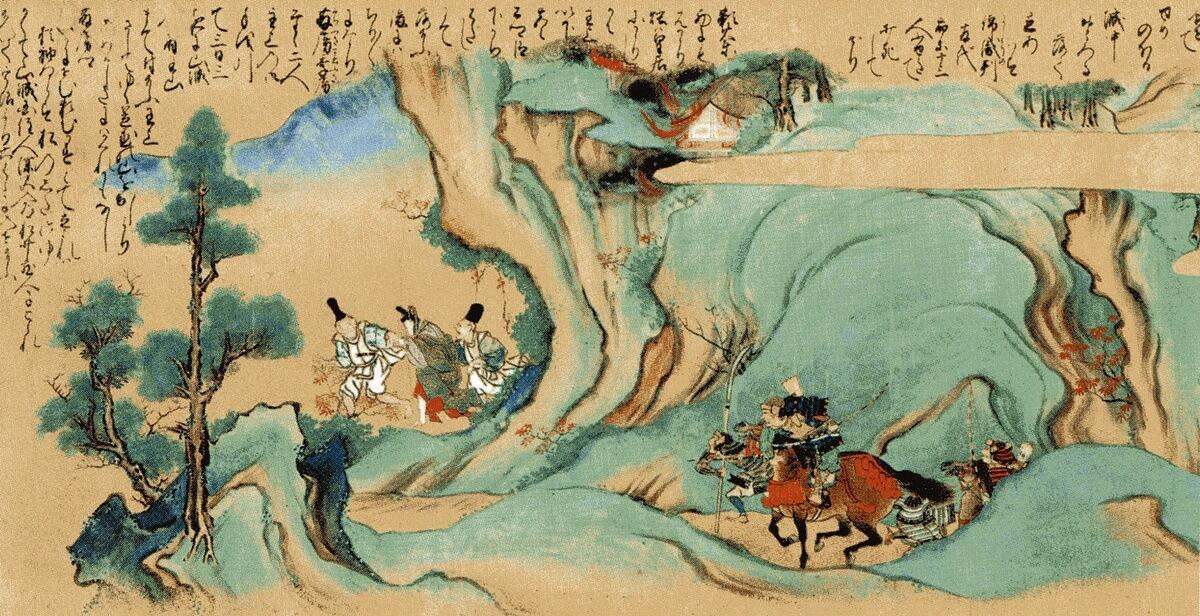 『太平記絵巻』第2巻(山中をさまよう後醍醐天皇)