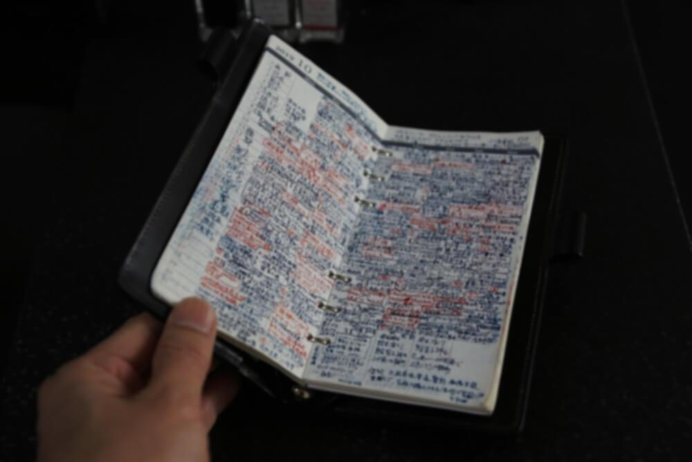 ガルーシャテイル コードバン手帳