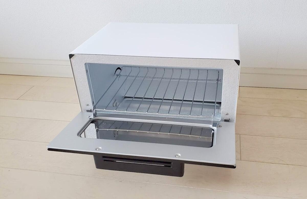 アイリスオーヤマ オーブントースター トースト2枚 ミラー調 横型 MOT-011
