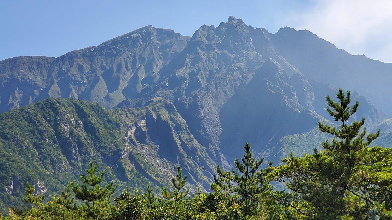 鹿児島 桜島 東面 北岳 中岳 南岳
