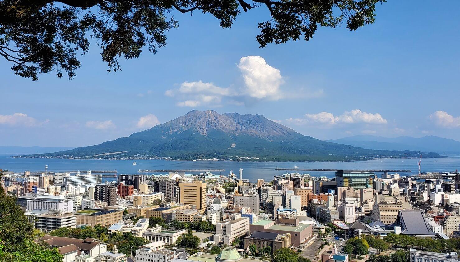 城山展望台 桜島