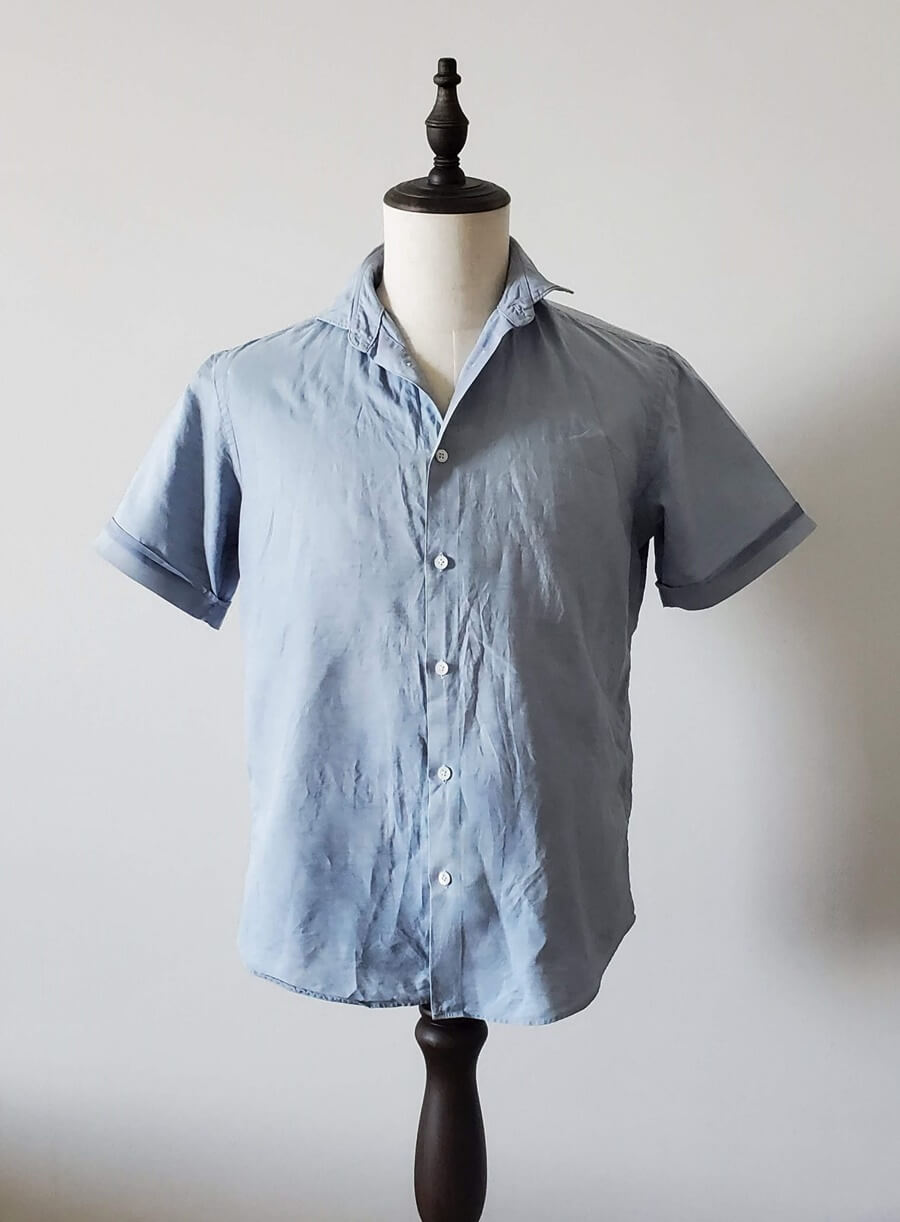 EDIFICE x MONTIの麻混半袖シャツ