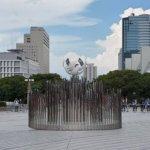 炎・2020東京五輪聖火台。