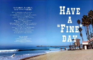 あのチャラかったサーフ系メンズ雑誌「 Fine 」がロン・ハーマンなイメージで新装刊。