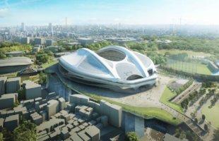 新国立競技場 南西側からの南西側からの鳥瞰図 NEW NATIONAL STADIUM JAPAN (1)