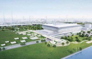 2020東京五輪 オリンピックアクアティクスセンター。
