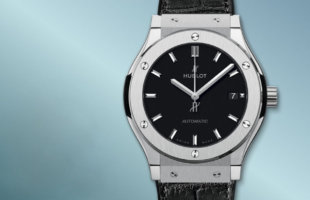 ウブロ クラシック フュージョン チタニウム アリゲーターレザー 腕時計 メンズ HUBLOT 542.NX.7071.LR